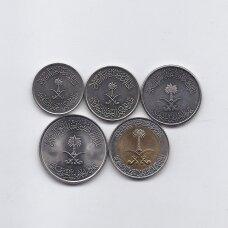 Saudo Arabija 5 monetų rinkinukas