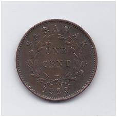 SARAVAKAS 1 CENT 1929 KM # 18 VF