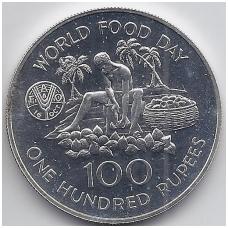 SEIŠELIAI 100 RUPEES 1981 KM # 45 UNC FAO