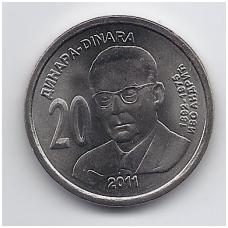 SERBIJA 20 DINARŲ 2011 KM # 53 IVO ANDRIC