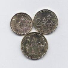 SERBIJA 2020 m. 3 monetų rinkinys