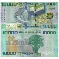 SIERA LEONĖ 10000 LEONES 2013 P # 33b UNC