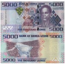 SIERA LEONĖ 5000 LEONES 2013 P # 32 UNC