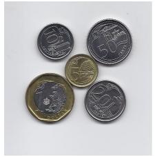 SINGAPŪRAS 2013 - 2014 m. 5 monetų komplektas