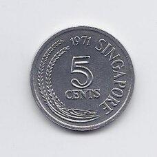 SINGAPŪRAS 5 CENTS 1971 KM # 8 UNC FAO