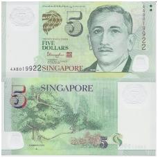 SINGAPŪRAS 5 DOLLARS 2005 P # 47d UNC