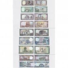LIBANAS 1980 - 1990 m. 8 banknotų rinkinys