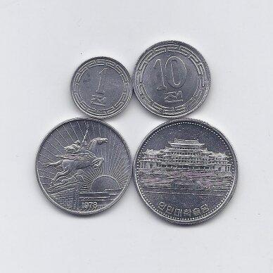 ŠIAURĖS KORĖJA 1959 - 1987 m. 4 monetų rinkinukas