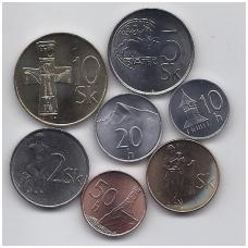 SLOVAKIJA 1993 - 2008 m. 7 monetų komplektas