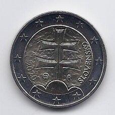 SLOVAKIJA 2 EURO 2020 KM # 102 UNC