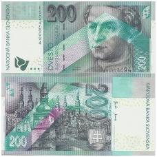 SLOVAKIJA 200 KORUN 2002 P # 41 UNC