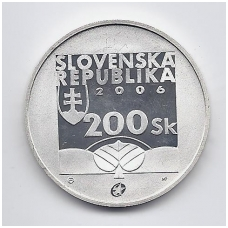 SLOVAKIJA 200 KORUN 2006 KM # 87 PROOF KAROL KUZMANY