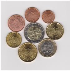 SLOVAKIJA 2009 m. pilnas euro komplektas