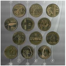 SLOVĖNIJA 12 X 5 TOLARJEV 1993 - 1999 PILNAS KOMPLEKTAS UNC (buklete)