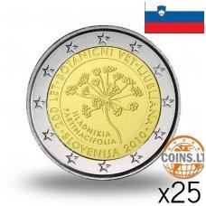 SLOVĖNIJA 2 EURAI 2010 BOTANIKOS SODAS RITINĖLIS (25 vnt.)