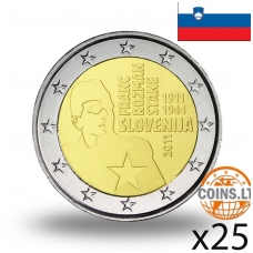 SLOVĖNIJA 2 EURAI 2011 FRANC ROZMAN STANE RITINĖLIS ( 25 vnt.)