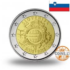 SLOVĖNIJA 2 EURAI 2012 10M. EURUI