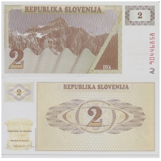 SLOVĖNIJA 2 TOLARJEV 1990 P # 2a UNC