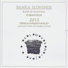 SLOVĖNIJA 2013 m. OFICIALUS EURO MONETŲ RINKINYS SU PROGINĖMIS 2-jų IR 3-jų EURŲ MONETOMIS