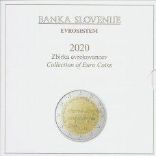 SLOVĖNIJA 2020 m. OFICIALUS EURO MONETŲ RINKINYS SU PROGINĖMIS 2-jų IR 3-jų EURŲ MONETOMIS