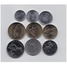 SLOVĖNIJA 9 monetų priešeurinis komplektas