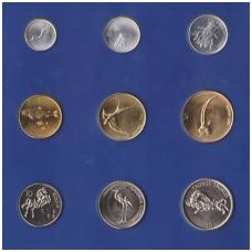 SLOVĖNIJA 9 monetų priešeurinis komplektas lankstinukyje