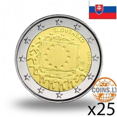 SLOVAKIJA 2 EURAI 2015 VĖLIAVA RITINĖLIS (25 vnt.)