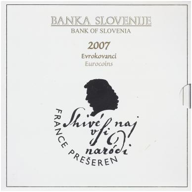 SLOVĖNIJA 2007 m. OFICIALUS EURO MONETŲ RINKINYS