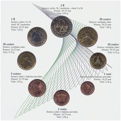 SLOVĖNIJA 2007 m. OFICIALUS EURO MONETŲ RINKINYS 2