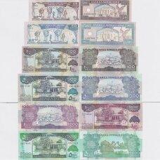 SOMALILANDAS 1997 - 2015 m. 6 banknotų rinkinys