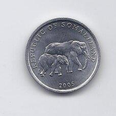SOMALILENDAS 5 SHILLINGS 2005 KM # 19 AU Dramblys
