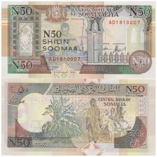 SOMALIS 50 SHILLING 1991 P # R2 UNC