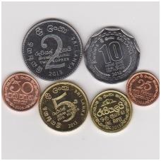 ŠRI LANKA 2005 - 2013 m. 6 monetų komplektas