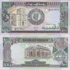 SUDANAS 100 POUNDS 1989 P # 44b UNC