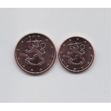 FINLAND 1 & 2 EURO CENTS 2006