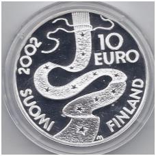 SUOMIJA 10 EURO 2002 KM # 108 PROOF