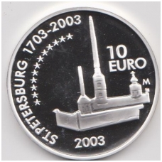SUOMIJA 10 EURO 2003 KM # 112 PROOF