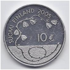 SUOMIJA 10 EURO 2005 KM # 120 PROOF