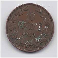 SUOMIJA 10 PENNIA 1915 KM # 14 F/VF