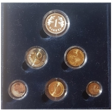SUOMIJA 2001 m. 5 monetų bankinis proof rinkinys su sidabriniu medaliu