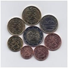 SUOMIJA 2008 m. euro monetų komplektas (monetos su nuo ritinėlių viršaus)