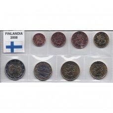 SUOMIJA 2008 m. pilnas euro komplektas