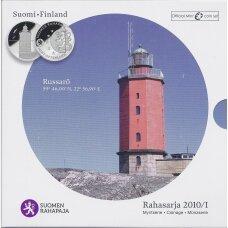 SUOMIJA 2010 m. OFICIALUS EURO MONETŲ RINKINYS SU MEDALIU