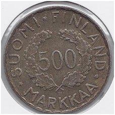 SUOMIJA 500 MARKKAA 1952 KM # 35 VF OLIMPINĖS ŽAIDYNĖS