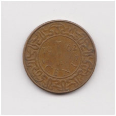 SURINAMAS 1 CENT 1962 KM # 11 VF