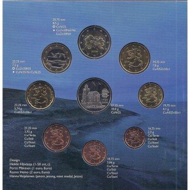SUOMIJA 2008 m. OFICIALUS EURO MONETŲ RINKINYS SU MEDALIU 2