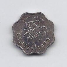 SVAZILANDAS 10 CENTS 1975 KM # 23 UNC FAO