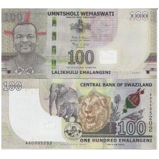 SVAZILENDAS 100 EMALANGENI 2017 P # new UNC