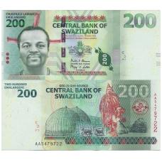 SVAZILENDAS 200 EMALANGENI 2014 P # 40b UNC