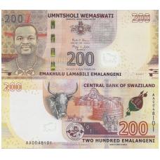 SVAZILENDAS 200 EMALANGENI 2017 P # new UNC